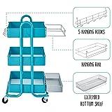 ECR4Kids Rolling Utility Cart 3-Piece Accessory