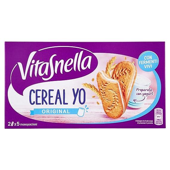 VitaSnella , Biscotti Cereal,Yo, ai cereali, con fermenti vivi e fibre ,