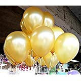VOVOV Latex Balloons, 12-Inch, Gold, Pack of 100