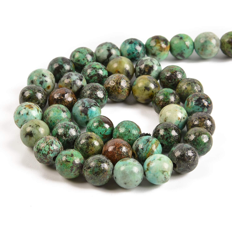Pcs Gemstones DIY Jewellery Making African Jasper Round Beads 8mm Blue//Green 45