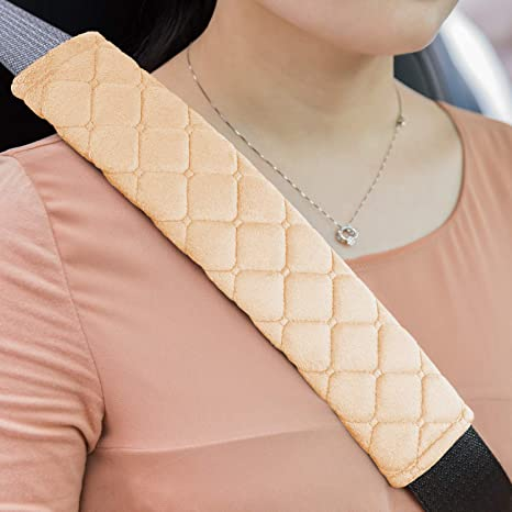 2pcs Car Safety Seat Belt Pads Harness Shoulder Strap Cushion Covers Kids Child