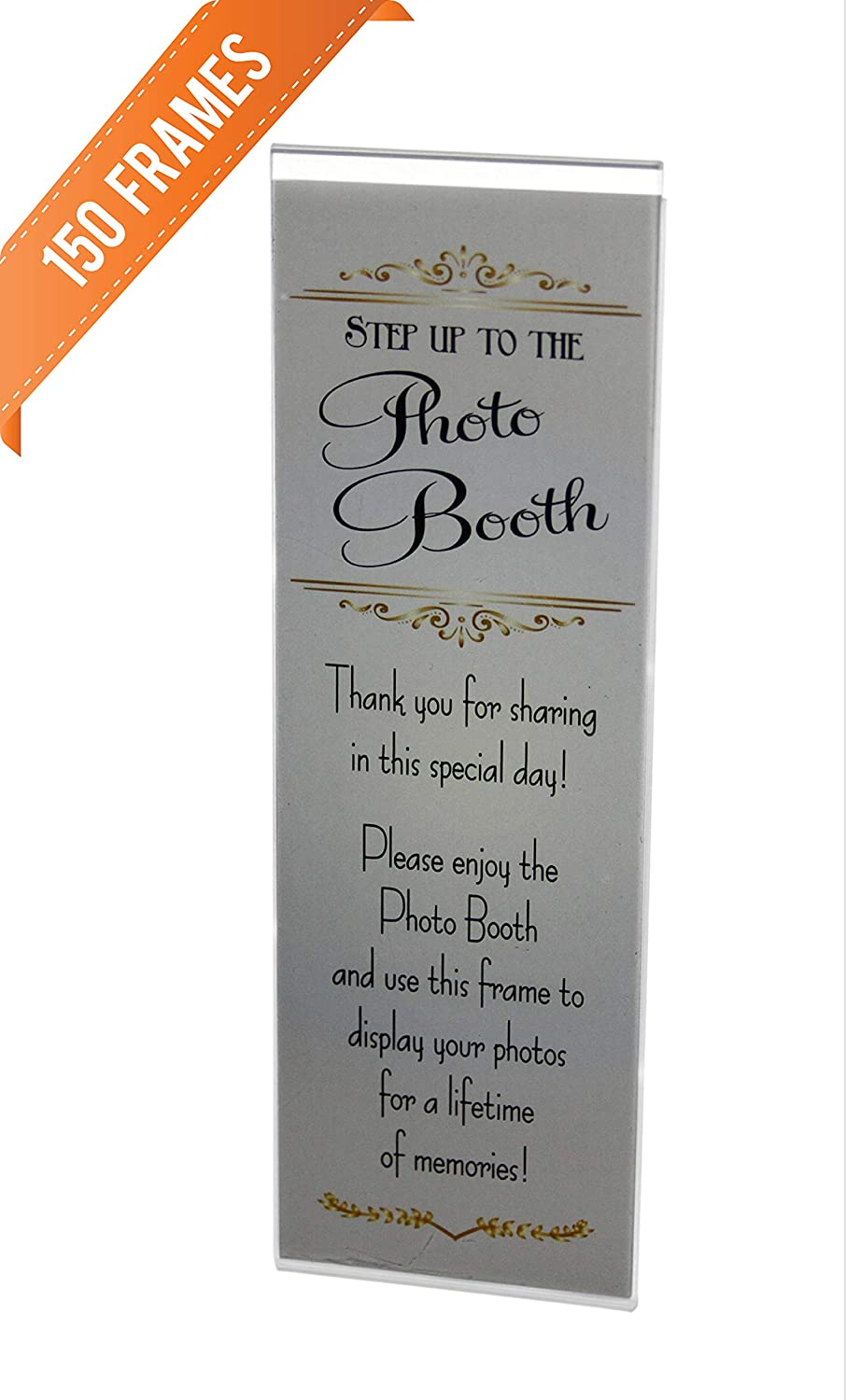 150 Acrylic Magnetic Photo Booth Frames for 2 X 6 Photo Strips