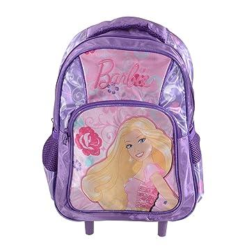 Barbie - Mochila Infantil Morado Morado Barbie Trolley Backpack: Amazon.es: Equipaje