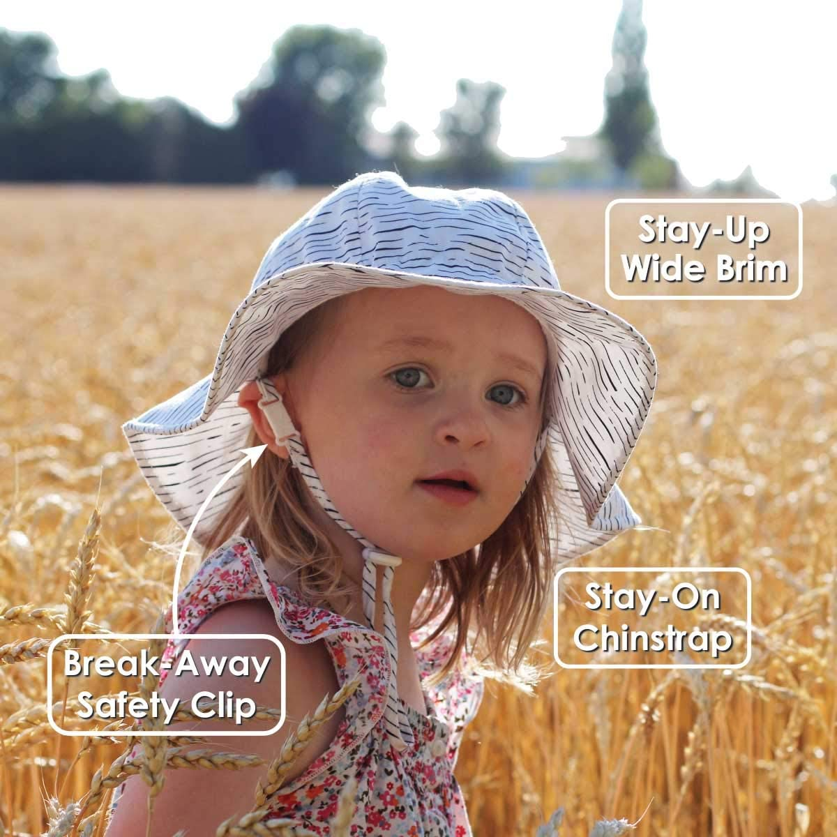 UPF 50 Adjustable Straps Jan /& Jul GRO-with-Me Girls Sun-Hat for Baby Toddler Kids Protection