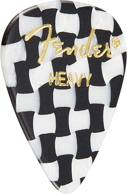 Heavy Checker mandolin acoustic guitar Fender 351 Shape Graphic Picks 12 Pack 351 for electric guitar Multicolor and bass