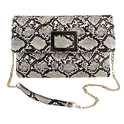 fc4dd8b3aa9 NINGZ Fashion Women Envelope Clutch Bag Purse Handbag Snakeskin ...