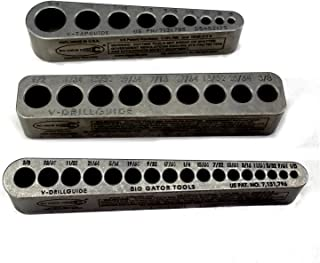 """product image for Big Gator Tools STD Series 3PC V-Drill Guide w/35 SAE Hole Sizes 1/8"""" - 5/8"""" 3PC Set"""