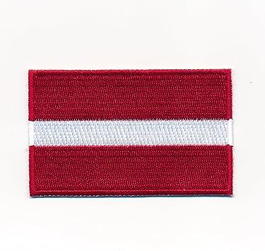 30 X 20 Mm Lettland Riga Flagge Baltikum Flag Patch Aufnäher Aufbügler 1053 Mini Auto