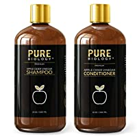 Pure Biology Premium Apple Cider Vinegar Shampoo & Conditioner Set – Cleanse, Increase...