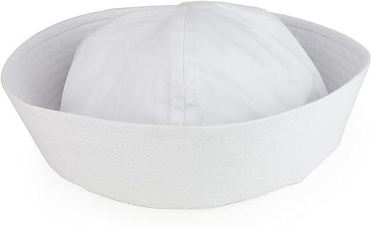 NEW White Doughboy Navy US SAILOR Fishing Marine Popeye Costume HAT Cap