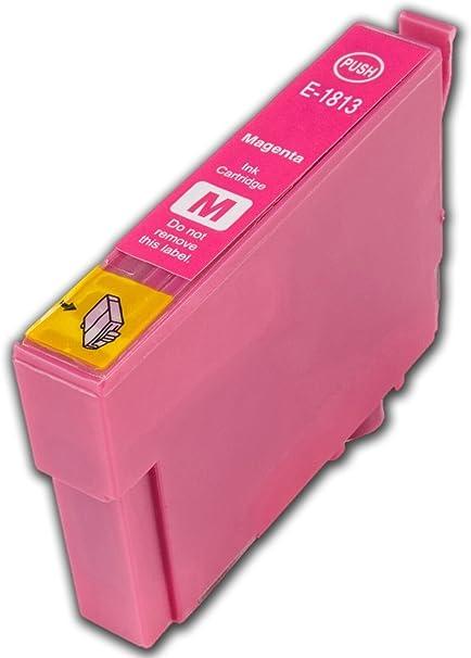 1 Compatible E1813 Magenta alta capacidad Magenta Rojo cartuchos ...