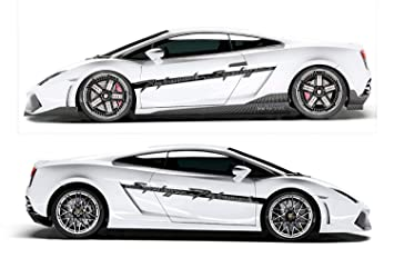 Evilrpm Pair Side Door Racing Stripes Kit Decal Stickers For