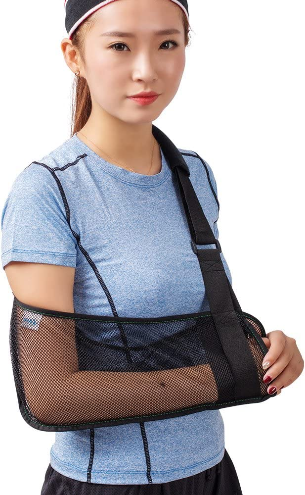 TODDOBRA Mesh Arm Shoulder Sling - Medical Shoulder Immobilizer for Shower - Arm Brace for Torn Rotator Cuff Injury - Right Left Support for Men and Women - Arm Shoulder Stabilizer for Elbow, Wrist, Thumb Injuries, Dislocation: Health & Personal Care