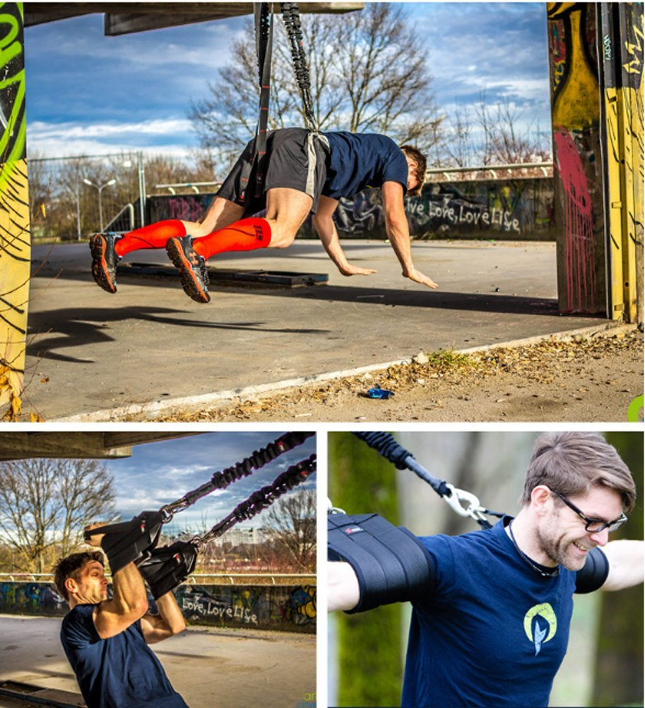 YNXing Aerial vitality bungee rope| resistance rope |air yoga stretch belt |yoga rope fitness vitality rope for Men and Woman by YNXing (Image #6)