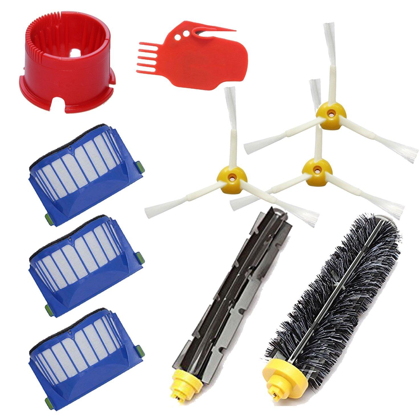 620 630 650 660 DigitalTech/® Pack//Kit reposici/ón de 10 cepillos filtros y Accesorios para aspiradoras iRobot Roomba 600