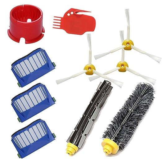 DigitalTech® Pack / Kit reposición de 10 cepillos, filtros y accesorios para aspiradoras iRobot Roomba 600 (620 630 650 660): Amazon.es: Hogar