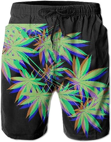 Banana Leaf Funny Summer Quick-Drying Swim Trunks Beach Shorts Cargo Shorts