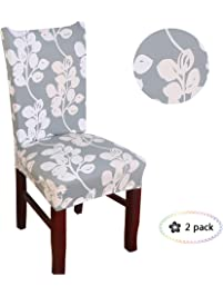 dining room chair slipcovers floral design | Shop Amazon.com | Dining Chair Slipcovers