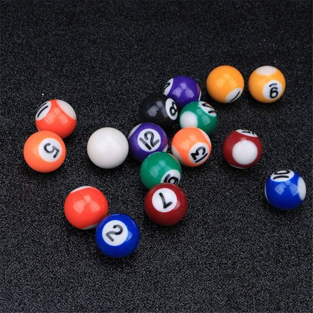 Xiaolizi 16pcs 25mm Resina Mini Bola de Billar de Juguete para ...