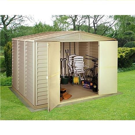 304,8 cm x 396,24 cm DURAMAX plástico PVC tornillo central con estructura