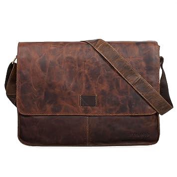 16648b7c04a60 STILORD  Hannes  Umhängetasche Leder Herren Damen Vintage A4 groß Messenger  Bag Uni Arbeit Büro