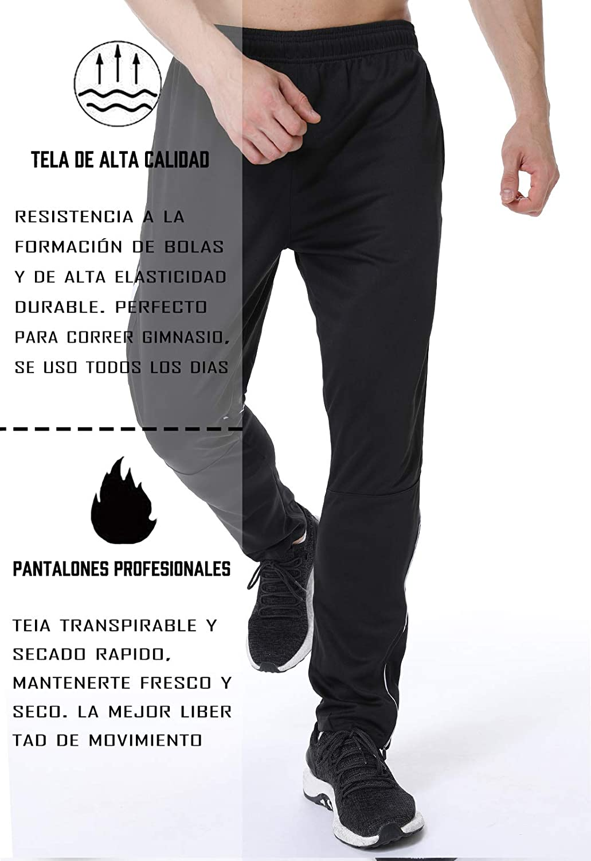 FITTOO Pantalones Deportivos para Hombre Mallas de Fitness El/ásticos y Transpirables