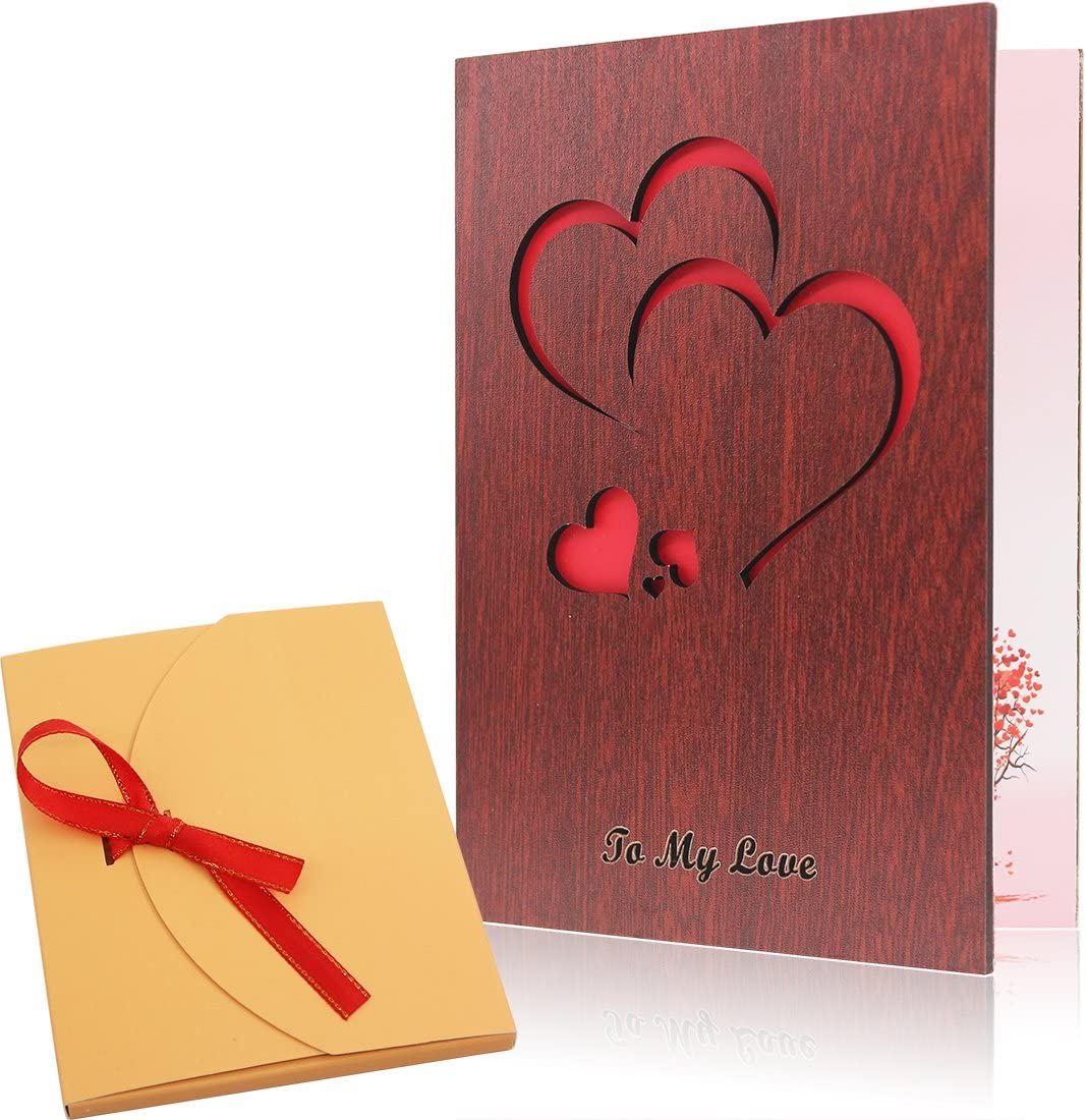 Miraculous Creawoo Handmade Walnut Wood Love Greeting Card With Unique Gift Personalised Birthday Cards Paralily Jamesorg