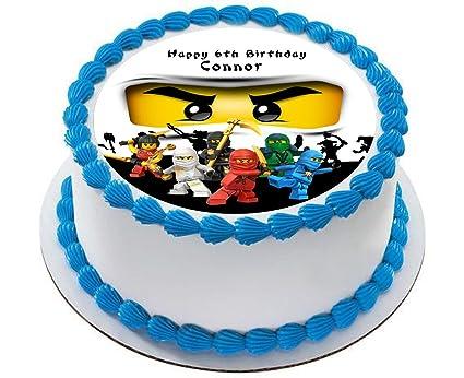 Ninjago Personalized Cake Topper Icing Sugar Paper 7 5