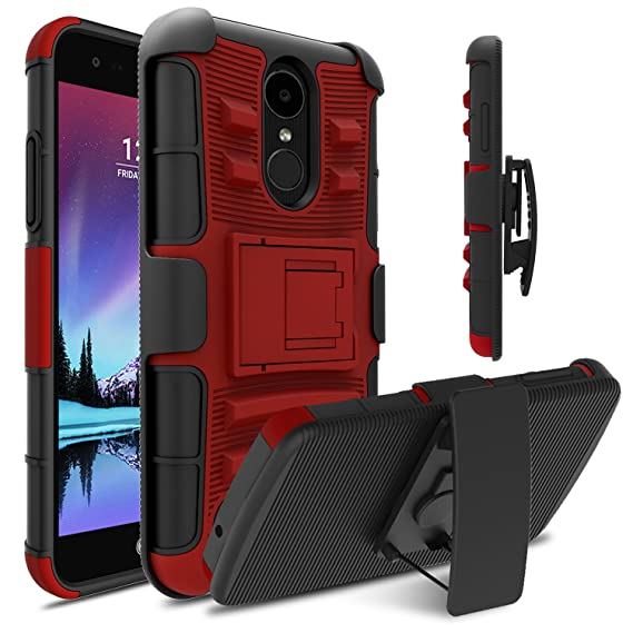 best service 42ce8 2bb0f LG Fortune Case, LG Phoenix 3 Case, LG Risio 2 Case, Venoro Heavy Duty  Armor Holster Defender Full Body Protective Hybrid Case Cover with  Kickstand ...