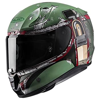 Amazon.com: HJC Full Face RPHA-11 Pro Boba Fett Helmet (Green, Large): Automotive