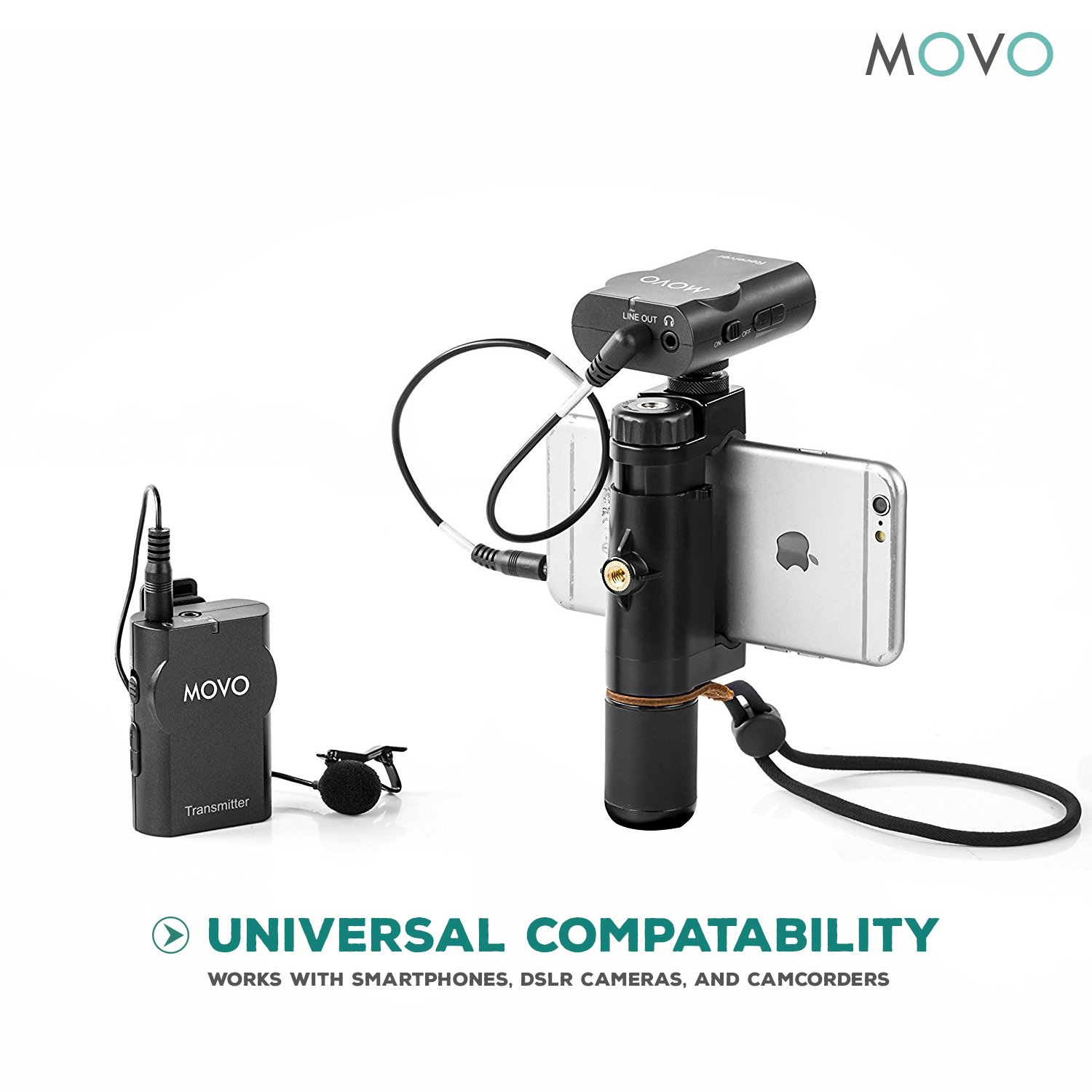 Movo WMIC10 2.4GHz Wireless Lavalier Microphone System for DSLR Cameras, iPhone/iPad/Android Smartphones, Camcorders (50-foot Transmission Range) by Movo (Image #7)