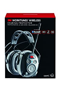 3M Worktunes Wireless Hearing Protection with Bluetooth Technology and AM/FM Radio