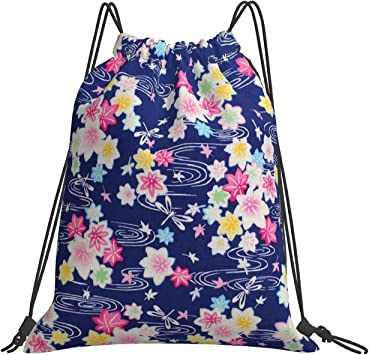 Asian Glitter Kaede (3) Drawstring Backpack Men Women Sport Gym Bag For Hiking Yoga Swimming Travel Beach