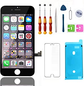 Swgrdin 3D Touch Screen Assembly for iPhone 8 Plus Screen Replacement Black 5.5