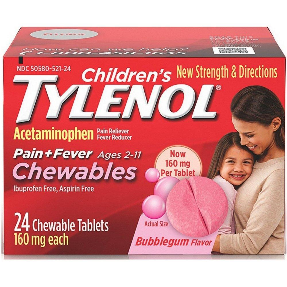 Children's Tylenol Chewables, Bubblegum, 24 Ct. by Tylenol