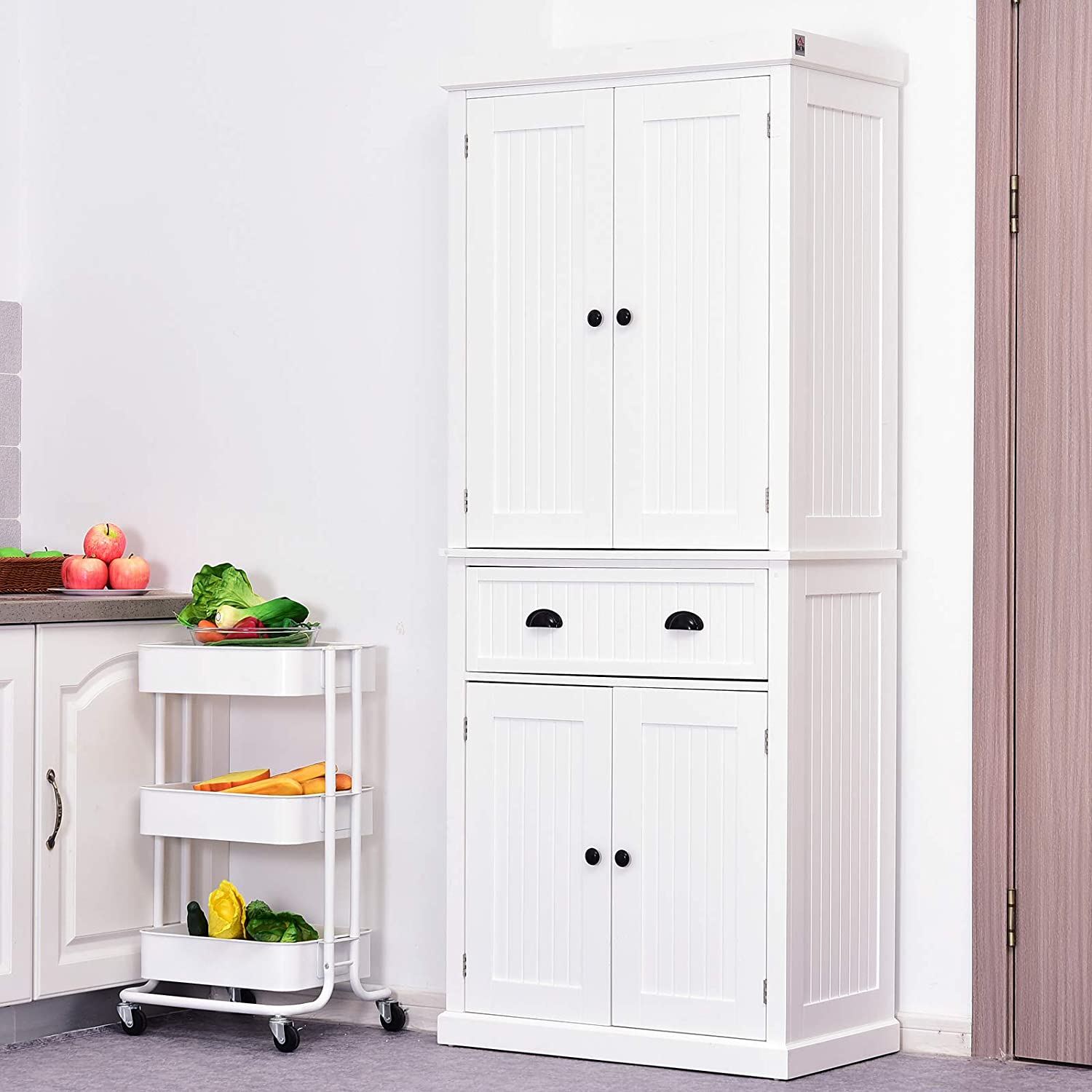 Traditional Colonial Kitchen Pantry Cabinet