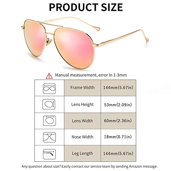 Women's Lightweight Oversized Aviator Sunglasses