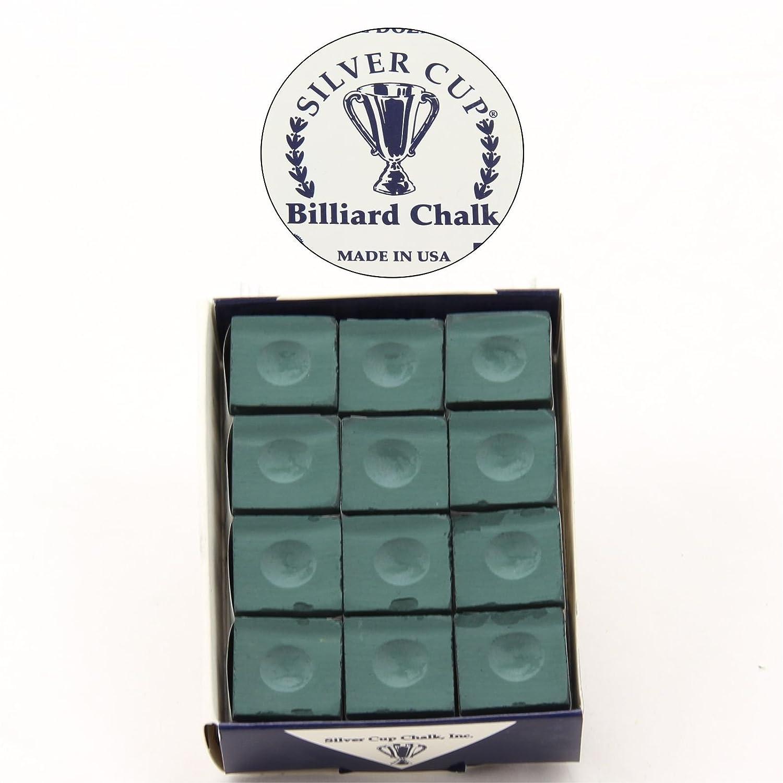 12 x SILVER CUP-Stecca da Snooker Gesso da biliardo, in legno di abete