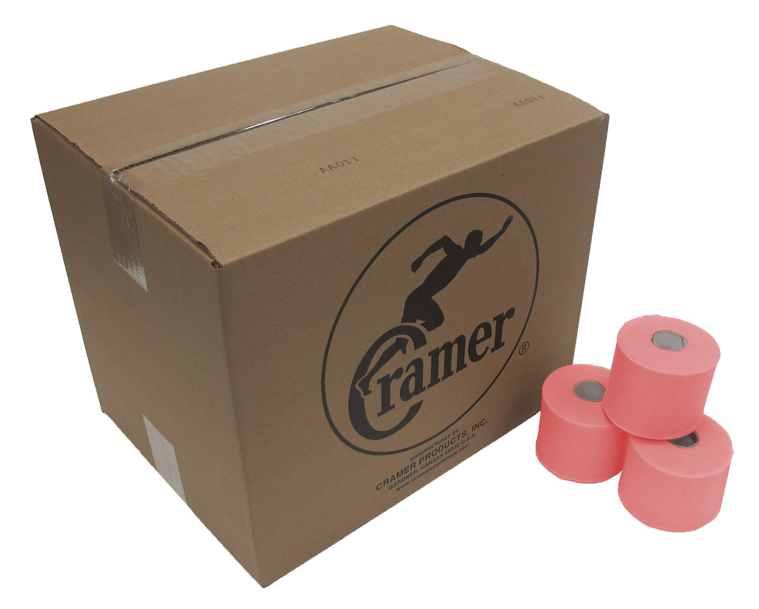 Cramer Tape Underwrap, Bulk Case of 48 Rolls of PreWrap for Athletic Taping, Hair Tie, Headband, Patellar Support, Pre-Wrap Athletic Tape Supplies, 2.75'' X 30 Yard Rolls of Pre Wrap