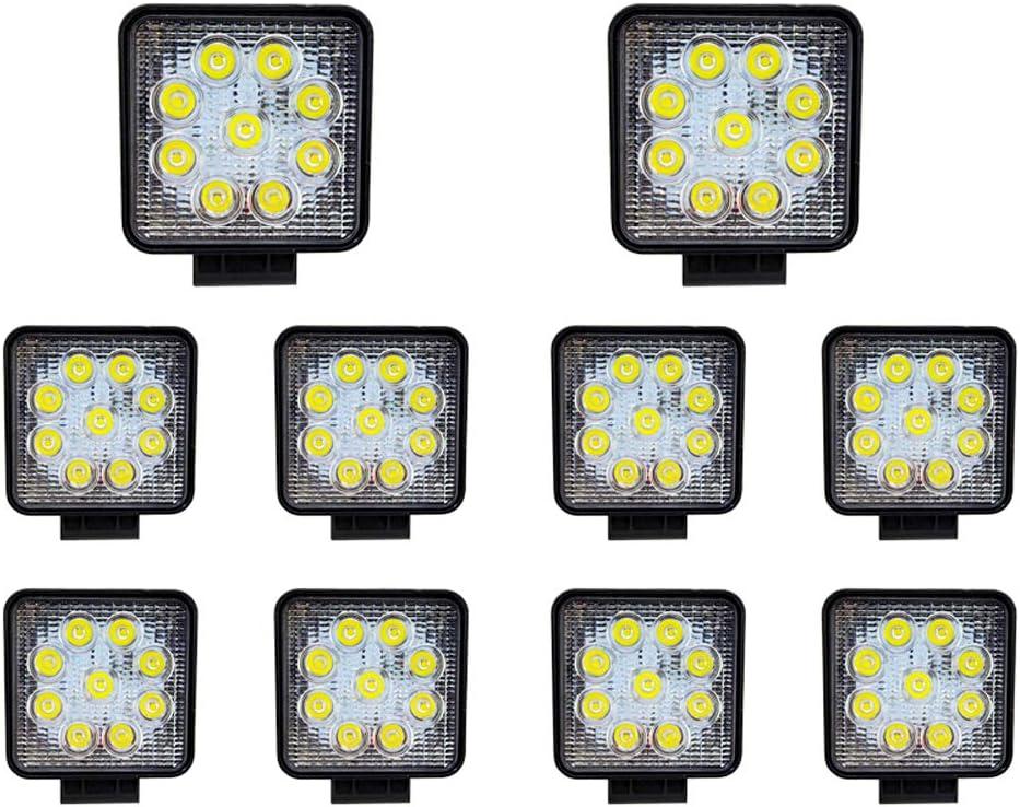 Offroad Strahler Arbeitslicht f/ür LKW Wasserdicht IP67 Hengda LED Arbeitsscheinwerfer 2x 27W LED Scheinwerfer 12v R/ückfahrscheinwerfer Traktor Auto Zusatzscheinwerfer
