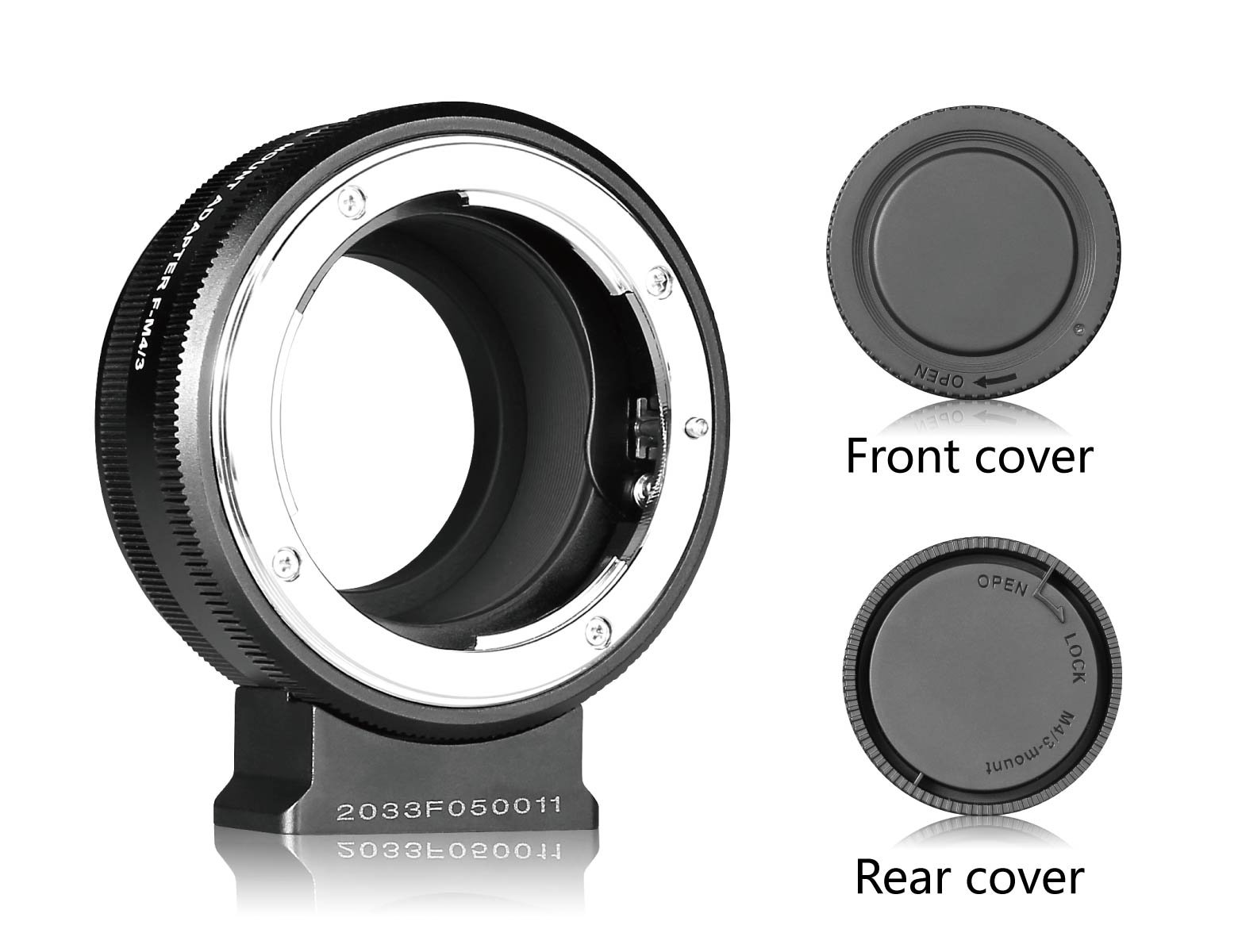 MEIKE Compatible with F-Mount Lens to M43-Mount Mirroless Camera E-PL5 E-PL6 E-PL7 GM5 GX1 GX7 G3 Manual Adapter Ring MEIKE MK-NF-P by Meike