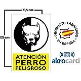 Wolfpack 15050922 Cartel Cuidado Con Los Perros 30x21 cm ...