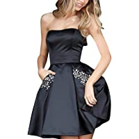 Aurora Bridal Women's Short Beading Homecoming Dresses 2018 Formal Gown AB0005