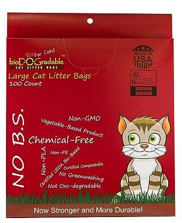 Amazon.com: Bolsas de basura para gatos, 100 bolsas de ...
