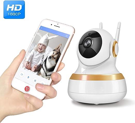 Vinsion Cámara HD 1080p para Mascotas, cámara para Perros y Gatos, cámara HD de visión Nocturna de Dos vías de Audio y detección de Movimiento: Amazon.es: Productos para mascotas