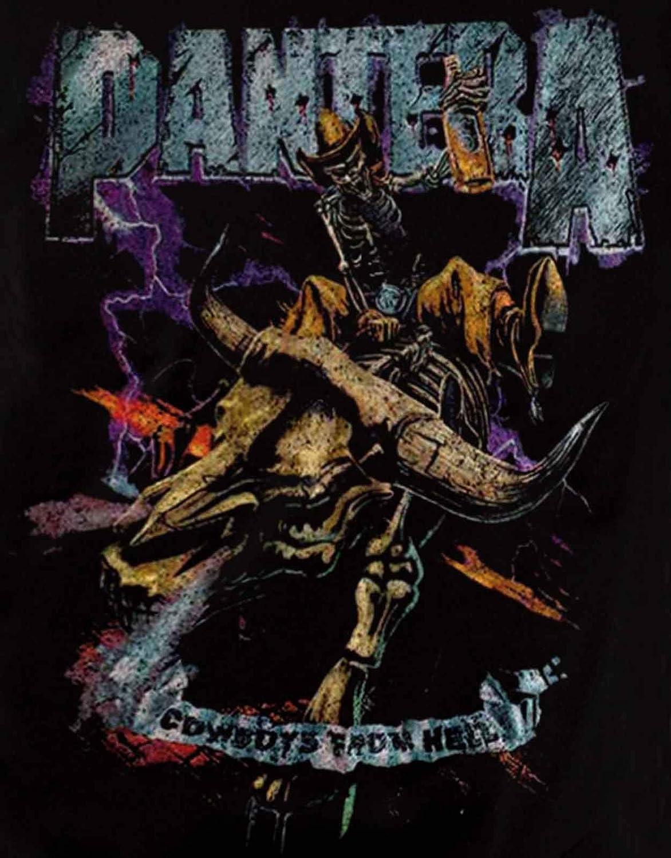 G/én/érique Pantera T Shirt Homme Vintage Cowboys from Hell Album Nouveau Officiel