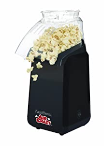 West Bend 82418BK Air Crazy Hot Air Popcorn Popper Pops Up To 4 Quarts of Popcorn Using Hot Air, Black