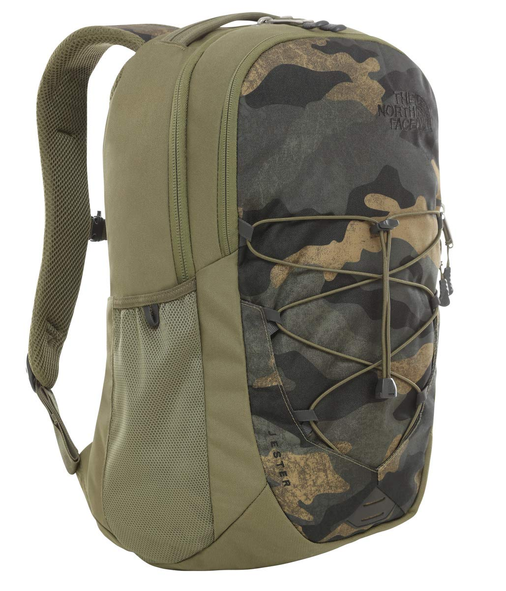 The North Face Jester Backpack, Burnt Olive Green Waxed Camo Print/Burnt Olive Green by The North Face