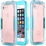 iPhone 7 Waterproof Case, iPhone 7 Case [HEAVY DUTY] Built-in Screen Protector Tough 2 in1 PC & TPU Rugged Shorkproof Waterproof Cover (Clear/Mint)