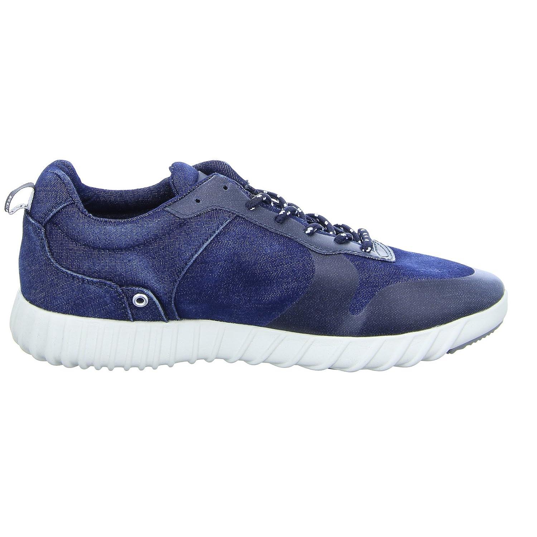 Replay Willern Herren Denim Sneaker Halbschuh Schnürer Jeans Denim Herren Blau (Navy) - d48a50